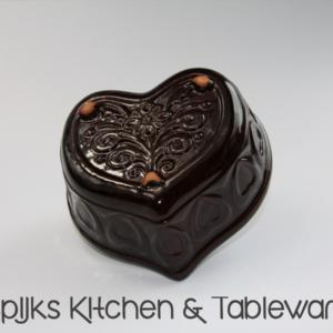 Spijks kitchen tableware Vintage Pudding vorm hartvorm donkerbruin