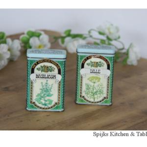 Spijks Kitchen and tableware 384 kruiden blikjes dille basilicum Het kruidengilde 3